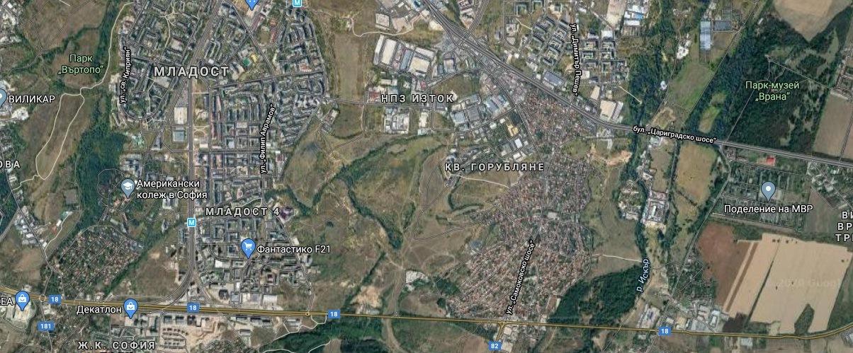 Парцели за жилищно застрояване между Младост3 и Горубляне